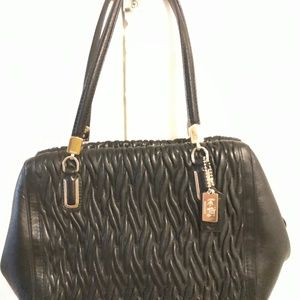 Black Leather Coach Bag - Beautiful!!! Almost New